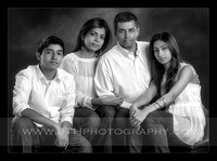 The Shah Family in the studio
